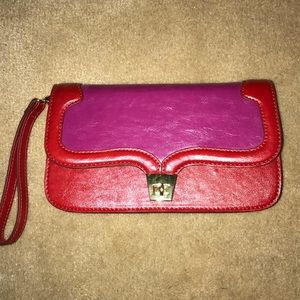 NWT Red Leather Clutch